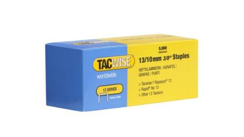 TACWISE 0235 Agrafes Galvanisées-Boîte de 5.000, Argent, 13/10 mm