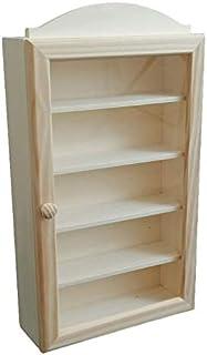 Vitrina colecciones madera. Con 5 baldas. Madera en crudo para decorar. Medidas exteriores (anchofondoalto): 25 * 85 *...