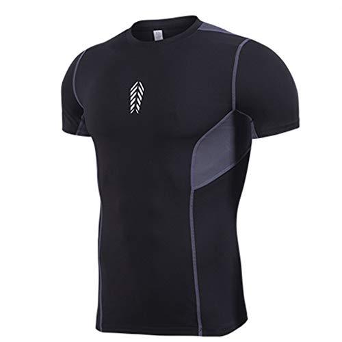 Yowablo - Yoga-Achselshirts für Herren in 2schwarz, Größe XXL