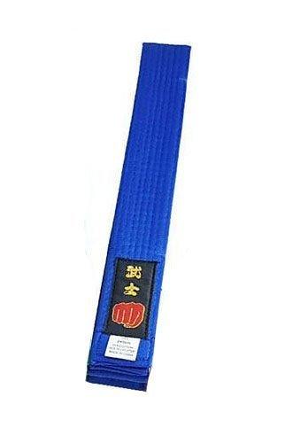 Longford Store UK Karategürtel Kampfsport Taekwondo Judo Kickboxen Jujitsu Shotokan (blau, Junior 240 cm)