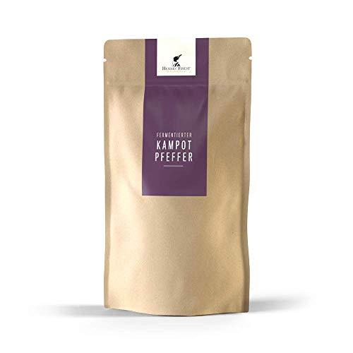 Hennes Finest Fermentierter Kampot Pfeffer (Grüner Pfeffer) - 150g Kampot Pfeffer fermentiert, Fermentierter Pfeffer aus Kambodscha, echter Gourmet Pfeffer, Pfefferkörner ganz aus fairer Erzeugung