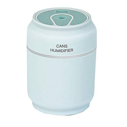 WRYCN Mini-luchtbevochtiger, multifunctioneel, USB-ventilator, nachtlampje, stille moistener voor slaapkamer, kantoor, car travel (twee stuks)