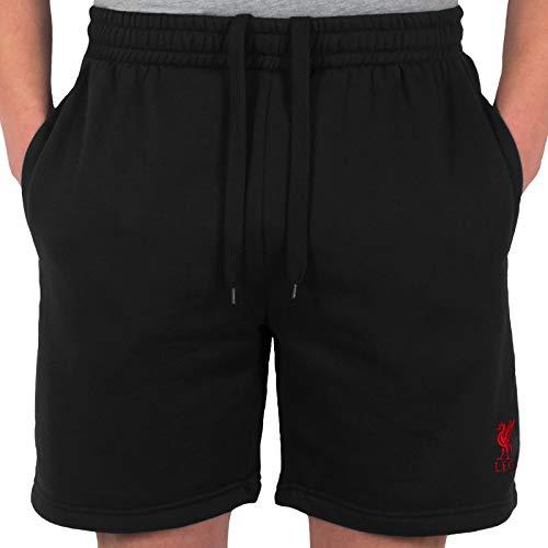 Liverpool FC - Herren Jogging-Shorts aus Fleece - Offizielles Merchandise - Geschenk für Fußballfans - Schwarz - S