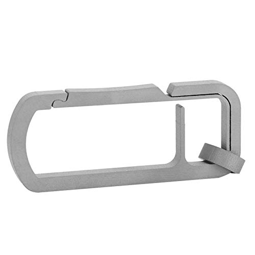 DAUERHAFT Metallschnalle Outdoor Einzelschnalle Schlüsselring Split Glänzende Einzelschlüsselringe Glatt für Männer