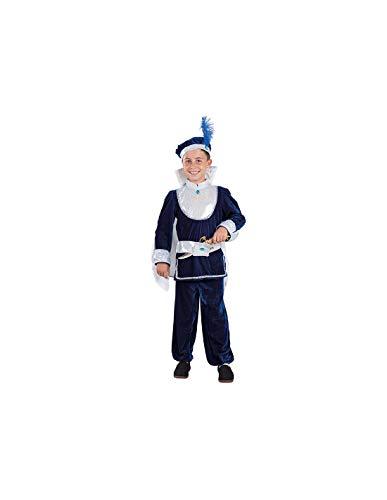 DISBACANAL Disfraz de principito Azul Infantil - -, 6 años