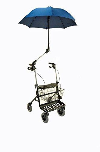 Schirm für Rollatoren dunkelblau