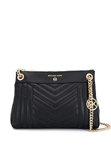 Luxury Fashion | Michael Kors Dames 30H9GUSL1T001 Zwart Leer Schoudertassen | Lente-zomer 20