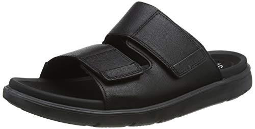 Clarks Men's UNWILMORE Part Black Leather Outdoor Sandals-8 UK (42 EU) (26148658)