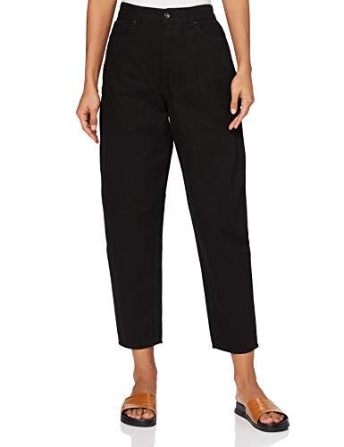 Amazon-Marke: find. Damen Jeans mit Ballon-Schnitt, Schwarz (Black), 29W / 32L, Label: 29W / 32L