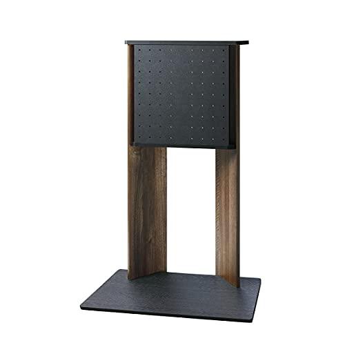 壁寄せ テレビスタンド 幅78.5cm フロアスタンド 80cm幅 テレビラック 壁掛け風 40V~55V型 WS-A800 テレビ台 テレビボード コード収納 コード隠し スッキリ ダークブラウン