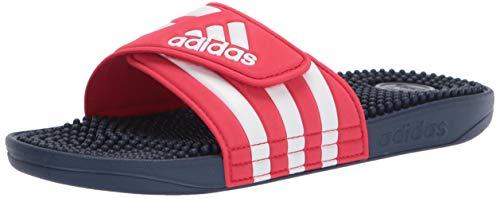 adidas Adissage Slide Sandal, Red, 13 M US