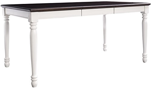 Crosley Furniture Shelby Expandable Dining Table, Distressed White