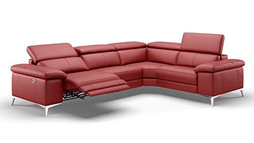 sofanella Leder Ecksofa Eckcouch Couchgarnitur Sofa Garnitur Sofagarnitur Wohnlandschaft Relaxsofa