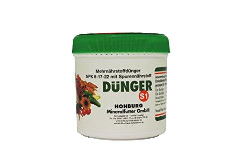 S1 Mehrnährstoffdünger NPK Dünger 6-17-22 Für Gemüse Und Blumen Mit Spurennährstoffen Chloridarmer Booster Für Tomaten Gurken Zitruspflanzen