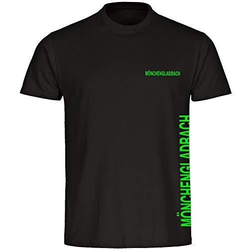 T-Shirt Mönchengladbach seitlich schwarz Herren Gr. S bis 5XL - Mönchengladbach Mönchengladbacher Fußball Fanartikel, Größe:XXXL