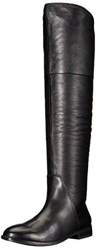 ALDO Women's Fudge Riding Boot, Black Leather, 7 B US
