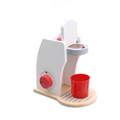 DIYARTS Kinder Holz Pretend Play Sets Simulation Kaffeemaschine Maschinenspielzeug, Mini Eismaschine Maschinenspiel Kinderküche Lernspielzeug (Wooden Coffee Machine Toy)