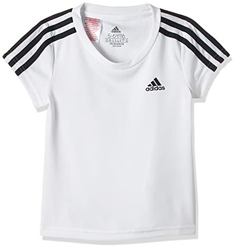 adidas G 3S T, t-Shirt (Manica Corta) Ragazze, White/Legend Ink, 1112