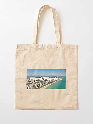 Générique Miamian Brands India Cool Miami for Stores Men Designer | Einkaufstaschen aus Segeltuch mit Griffen, Einkaufstaschen aus nachhaltiger Baumwolle
