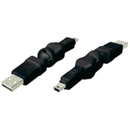 Alcasa USB2.0-5-Pin MiniUSB2.0 USB 2.0 A Negro - Adaptador para Cable (USB...