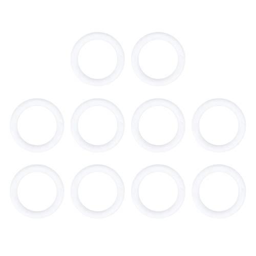 Toyvian 10pcs anello corona di schiuma per artigianato e decorazioni fai da te polistirolo ghirlanda di natale composizione floreale di nozze progetti floreali (20 cm)