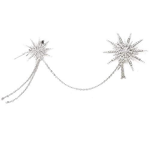 Broche de diamantes de imitación para banquete