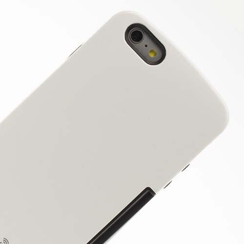 Vahalla Accesorios Funda para iPhone 6 Plus/iPhone 6s Plus Blanca con Tarjetero