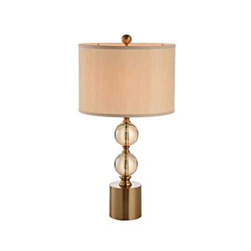 DWY Lámpara de Mesa lámpara de Noche Lámpara de Mesa Americana Simple lámpara de Cristal lámpara de Estudio lámpara de Sala de Estar Dormitorio lámpara Lámpara de Escritorio para Dormitorio