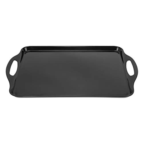 Omabeta Conveniente para Limpiar Bandeja de Alimentos Elegante y única Resistente a Altas temperaturas para el hogar(Black)