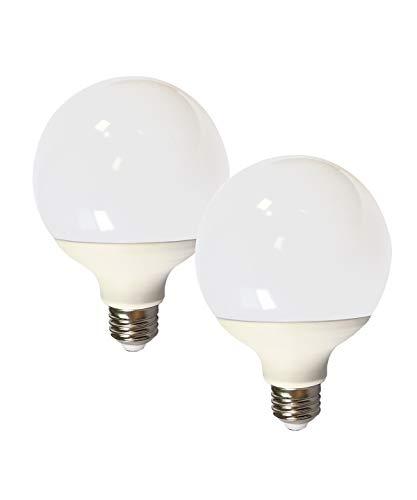 DALUX G30 Globe G95 Led Bulb,10 Watt 1050 Lumen with E26 Base, 75 Watt Incandescent Bulb Equivalent,Non-Dimmable, DayWhite 6000K, Pack of 2Unit
