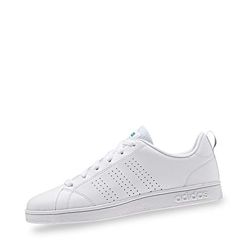 Adidas Unisex-Kinder VS Advantage Clean Low-top Fitnessschuhe, Weiß (Footwear White/Green), 37 1/3 EU (4.5 UK)