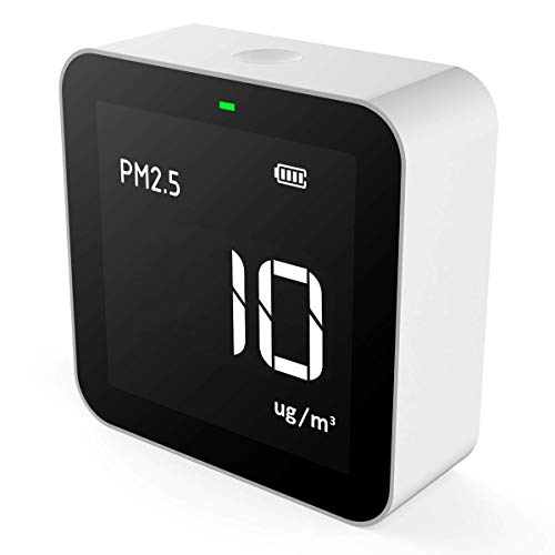 Temtop P10 Air Quality Monitor for PM2.5 AQI Professional Particle Sensor Fine Dust Detector Real Time Display Rechargeable Battery