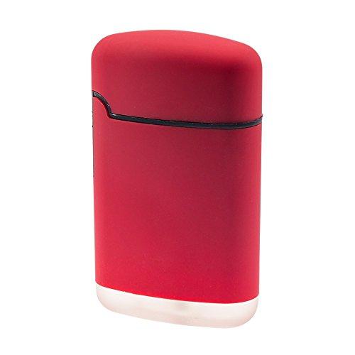 SMOKERTOOLS Easy Torch 8 Rubber Sturmfeuerzeug in 5 Farben sortiert, Farbe Easy Torch Matt:Rot Matt Rot Matt