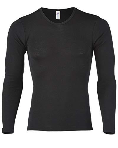 Engel Natur Camiseta interior de manga larga para hombre, lana y seda,...