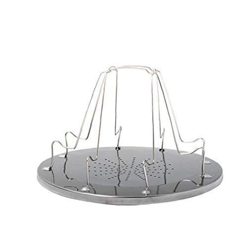 Tostadora portátil Plataforma de Camp tostadora del Pan Plegable de 4 Piezas de Pan Tostado Pan Placa Comida campestre Que acampa Parrilla Bandeja Plegable al Aire Libre