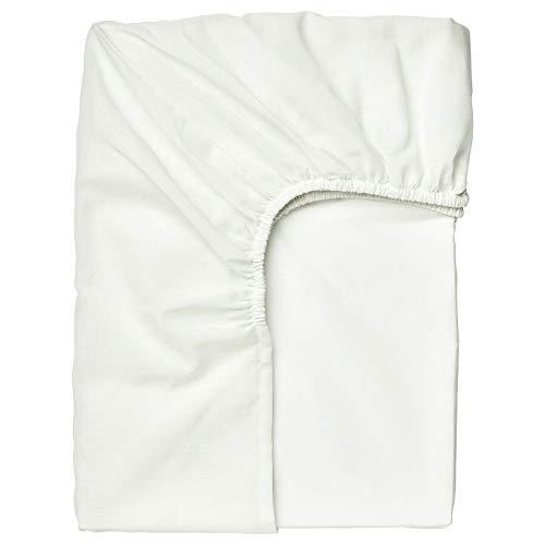IKEA TAGGVALLMO Spannbettlaken für Einzelbett, 90 x 190 cm, Weiß