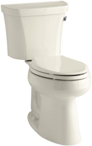 Kohler K-3889-RA-47 Highline Comfort Height 1.28 gpf Toilet, 10-inch Rough-In, Right-Hand Trip Lever, Almond