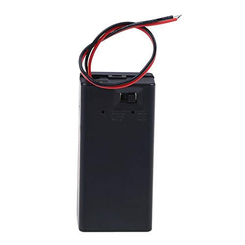 HXFANG® Caja de Soporte de la batería de 9V Volt PP3 Caja...