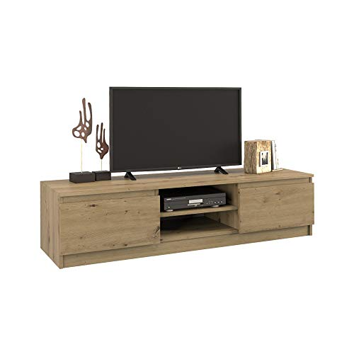 BIM Furniture Tv-kast Fiance 140 cm TV tafel dressoir TV commode hifi tafel modern Artisan eiken