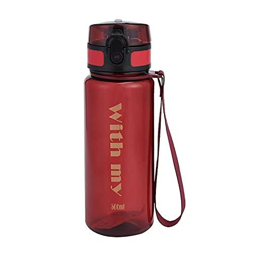 YTMY Botella De Agua De Plástico para Deportes Al Aire Libre, Botella De Agua Portátil Sin BPA, Adecuada para Andar En Bicicleta, Correr, Hacer Ejercicio, Deportes Al Aire Libre