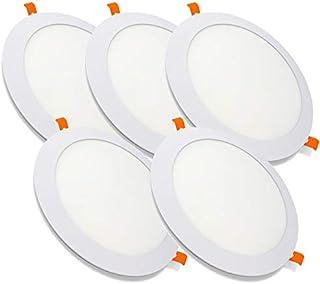 PACK X5, Downlight LED Techo, Lamparas De Techo, Lampara De Techo, de 20W con 2000 Lúmenes · 6000K Luz Blanca Fria · LED con 218mm de diámetro, Corte 195mm [Clase Energética A++]