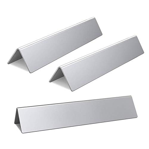 15.3-Inch Durable Flavorizer Bars for Weber Spirit 200 Series, Spirit E210 (Front Control) Grill Parts, Stainless Steel, 3-Pack