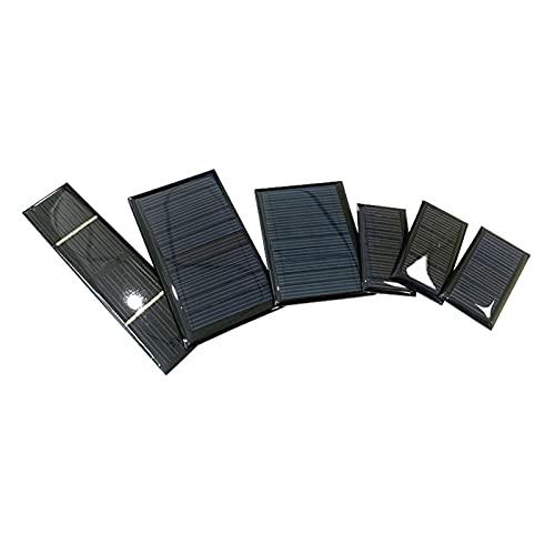 Mini Panel Solar 1 PC El Panel Solar / 5V 30mA 50mA 60mA 230 mA 5V Mini células de batería Solar para Bricolaje Coche Solar (Color : 5V 50mA 60X44)