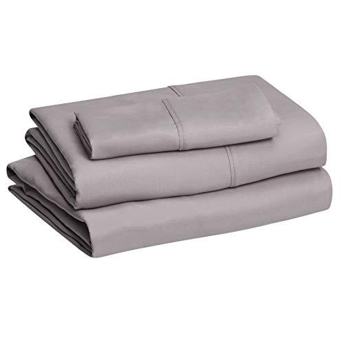 Amazon Basics Lightweight Super Soft Easy Care Microfiber Bed Sheet...