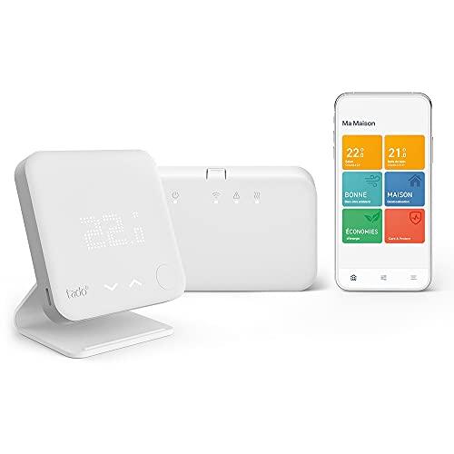 Kit de Démarrage - Thermostat Connecté et Intelligent sans fil V3+, Support correspondant inclus – Contrôle intelligent du chauffage, fonctionne avec Alexa, Siri & Assistant Google