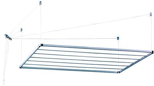 Monchy 008782 Tendedero de Techo, Aluminio, Gris, 140.5x66.5x1.7 cm