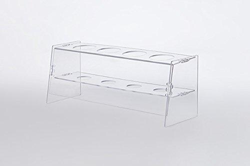 HR Direkt Verkauf GmbH Praktischer Eiswaffelständer aus Acrylglas (PetG) mit 4 Löchern - Eishalter zum Verzieren - Eiswaffelhalter -