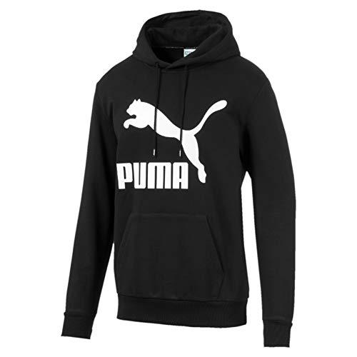 PUMA Classics Logo Hoody TR Sudadera, Hombre, Black, XL