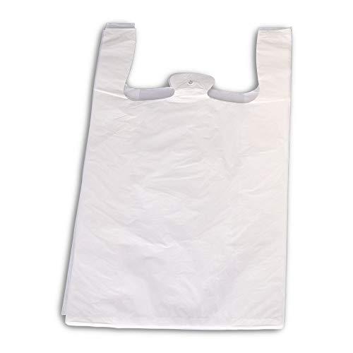 1000x Hemdchen-Tragetasche, HDPE, Weiß, geblockt, 280 + 140 x 480 mm 20 My