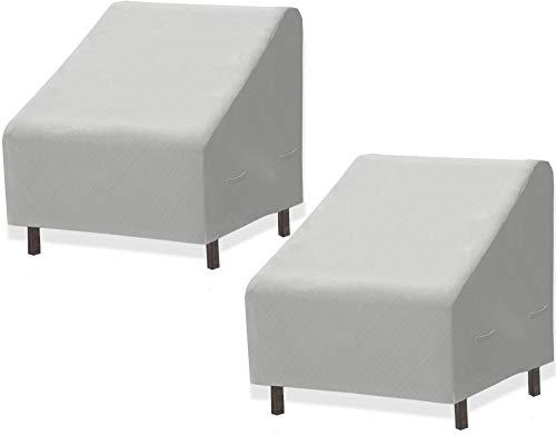 2 PK - SimpleHouseware Patio Lounge Deep-Seat Sofa Cover, 32 x 39 x 29 Inches